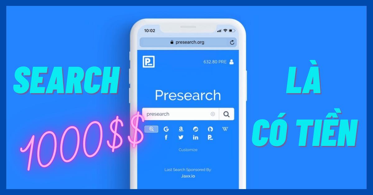 Presearch là gì kiếm tiền với presearch