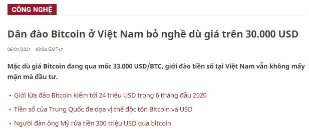 Đào bitcoin ở Việt Nam